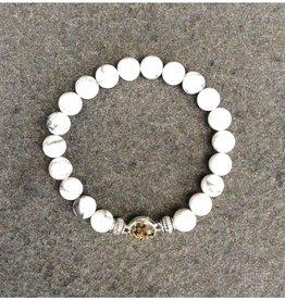 ShoreLine ShoreLine, Naples Sand Bracelet, White Howelite