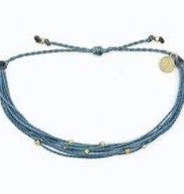 PuraVida PuraVida, Gold Malibu Bracelet, Blue