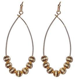 "What's Hot Serendipity Earrings, EW2125, Gold Beaded 1.5"" Drop"