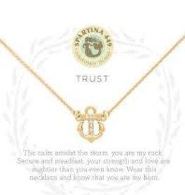 """Spartina 449 Spartina 449, SLV Necklace 18"""", Trust/Anchor"""