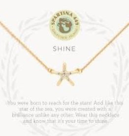 "Spartina 449 Spartina 449, SLV Necklace 18"", Shine/Starfish"
