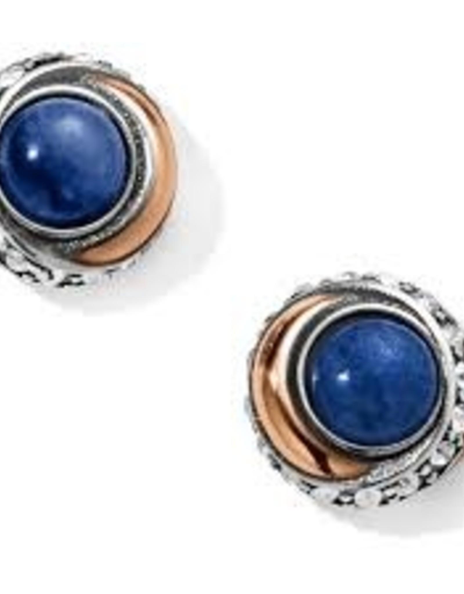 Brighton Brighton, Neptune's Rings Brazil Blue Quartz Button Earrings