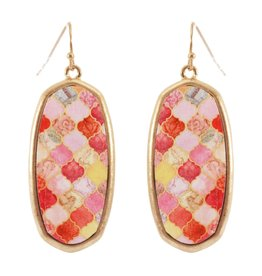 What's Hot Serendipity Earrings, CE2182, Pink Painted Wood