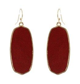 What's Hot Serendipity Earrings, CE2611, Red Textured Geometric