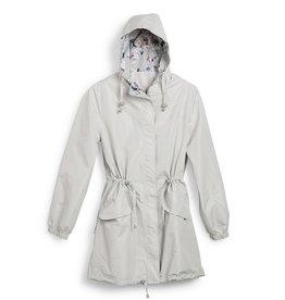 Vera Bradley Vera Bradley, Packable Raincoat, Stratus Grey, Size Small