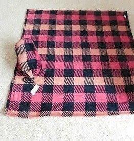 Vera Bradley Vera Bradley, Pet Blanket in Bag Garnet Buffalo Check