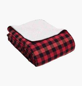 Vera Bradley Vera Bradley, Cozy Life Blanket Garnet Buffalo Check FINAL SALE