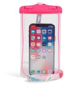 Vera Bradley Vera Bradley, Waterproof Phone Pouch w/ Lanyard, Rosy Garden Picnic