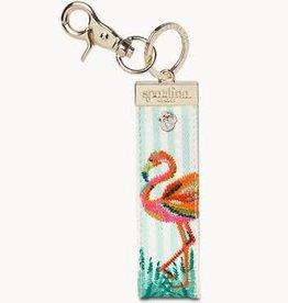 Spartina 449 Spartina 449, Grab-n-Go Keychain Flamingo Stripe