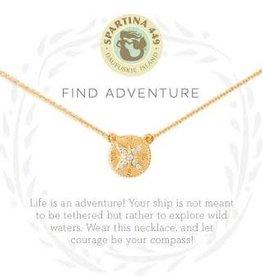 "Spartina 449 Spartina 449, SLV 18"" Necklace,  Adventure/Compass"