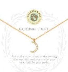 """Spartina 449 Spartina 449, SLV Necklace 18"""" Guiding Light/Crescent"""