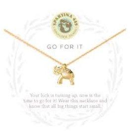 """Spartina 449 Spartina 449, SLV Necklace 18"""", Go For It/Elephant"""