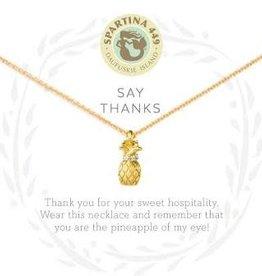 "Spartina 449 Spartina 449, SLV Necklace 18"", Thanks/Pineapple"