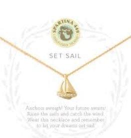"Spartina 449 Spartina 449, SLV Necklace 18"" Set Sail/Sailboat"