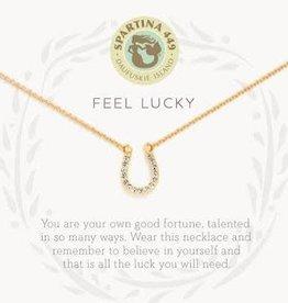 """Spartina 449 Spartina 449, SLV Necklace 18"""", Feel Lucky/Horseshoe"""