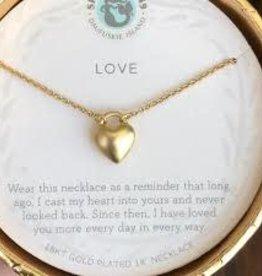 """Spartina 449 Spartina 449, SLV Necklace 18"""" Love/Heart"""