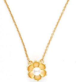 "Spartina 449 Spartina 449, SLV Necklace 18"", Bloom/Magnolia Flower"