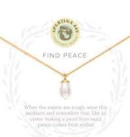 "Spartina 449 Spartina 449, SLV Necklace 18"", Find Peace"
