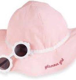 MudPie MudPie Kids, Pink Sun Hat Glasses Set, Infant