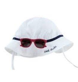 MudPie MudPie Kids, White Sun Hat and Glasses Set, Infant