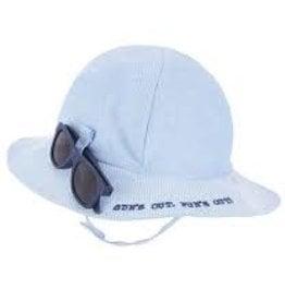 MudPie MudPie Kids, Blue Sun Hat and Glasses Set, Infant