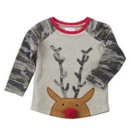 MudPie MudPie Kids, Reindeer Camo T-Shirt, S 12-18 months FINAL SALE