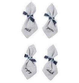 MudPie MudPie, Word Napkin Set With Tie (Set of 4)