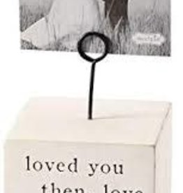 MudPie MudPie, Love You Always Wood Block Picture Frame