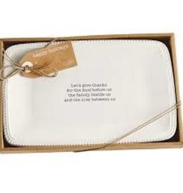 MudPie MudPie, Boxed Sentiment Platter, Give Thanks (In store/curbside pick up only)