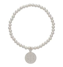 ENEWTON ENEWTON, Blessing Charm, 4mm Bead Bracelet, Sterling