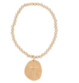 ENEWTON .ENEWTON, Classic Gold 4mm Bracelet, Inspire Charm