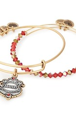 Alex and Ani Harry Potter, Gryffindor Motto Set of 2, Two Tone, RG