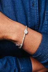 Alex and Ani Prints of Love Multi Charm Beaded Stretch Bracelet RAFAELIAN SILVER