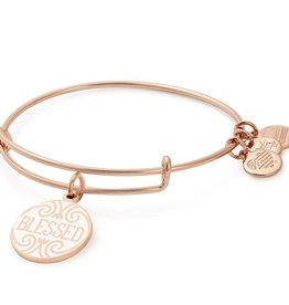 Alex and Ani Alex and Ani, Words are Powerful, Blessed, Shiny Rose Gold