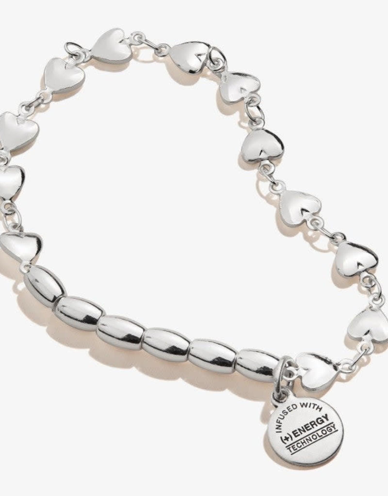 Alex and Ani Alex And Ani, Heart Stretch Bracelet ,SS