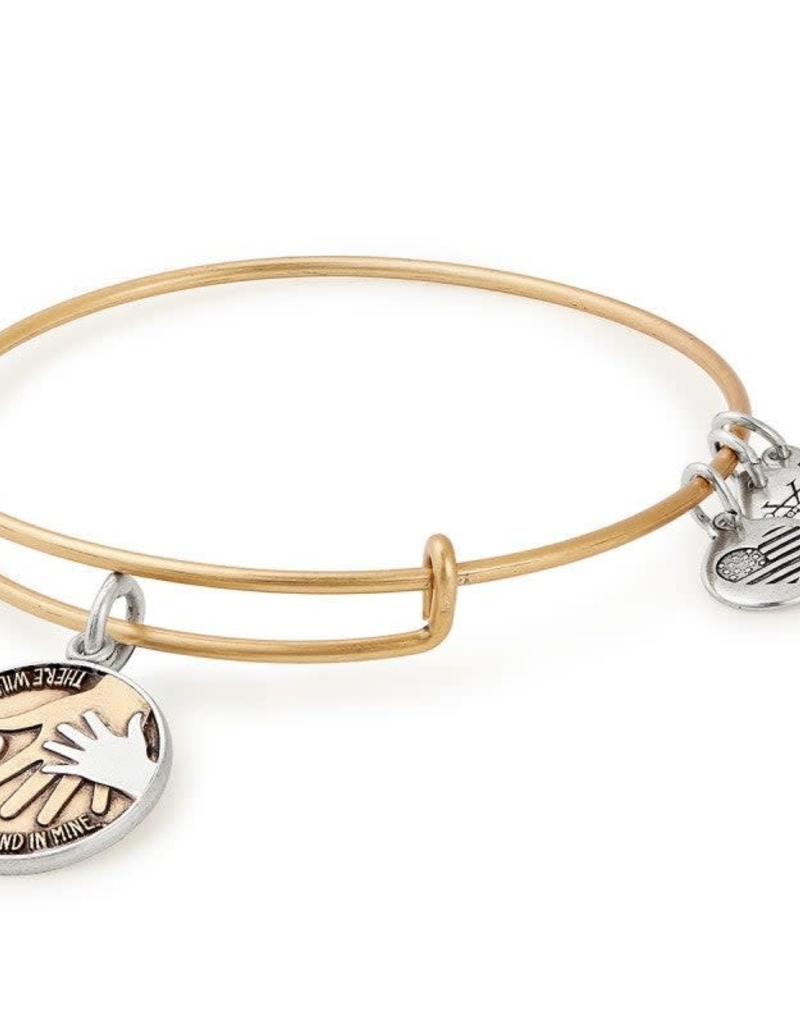 Alex and Ani Hand in Hand II, Two Tone, RG