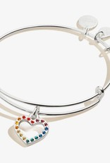 Alex and Ani Alex and Ani, Crystal Infusion Rainbow Heart, SS