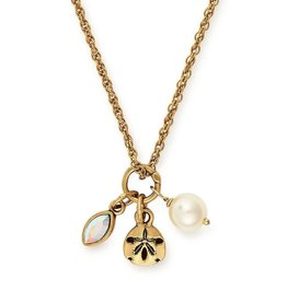 Alex and Ani Sand Dollar Trio, 18in Adjustable Necklace