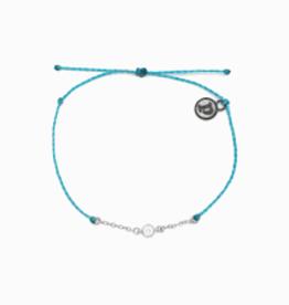 PuraVida PuraVida, Silver Delicate Rhinestone Bracelet, Light Blue
