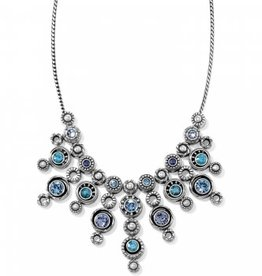 Brighton Brighton, Halo Burst Collar Necklace, Silver-Tanzanite