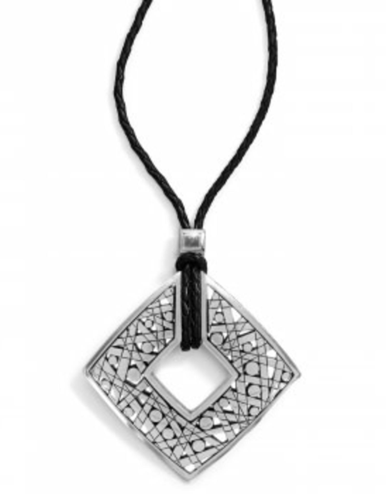 Brighton Brighton, Nazca Long Necklace, Silver-Black