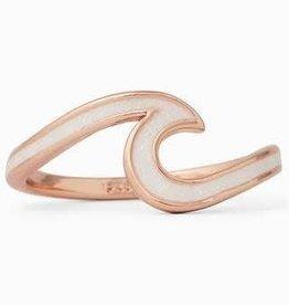 PuraVida Puravida, White Enamel Wave Ring