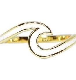 PuraVida Puravida, Enamel Wave Ring Gold