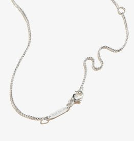 Alex and Ani Triangle 3D Charm Adjustable 18in Necklace, Sterling Silver