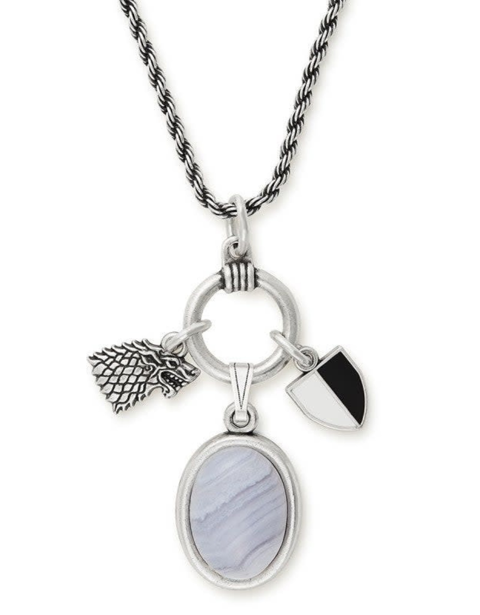 Alex and Ani Game of Thrones, Arya Stark 21in. Adjustable Trio Necklace