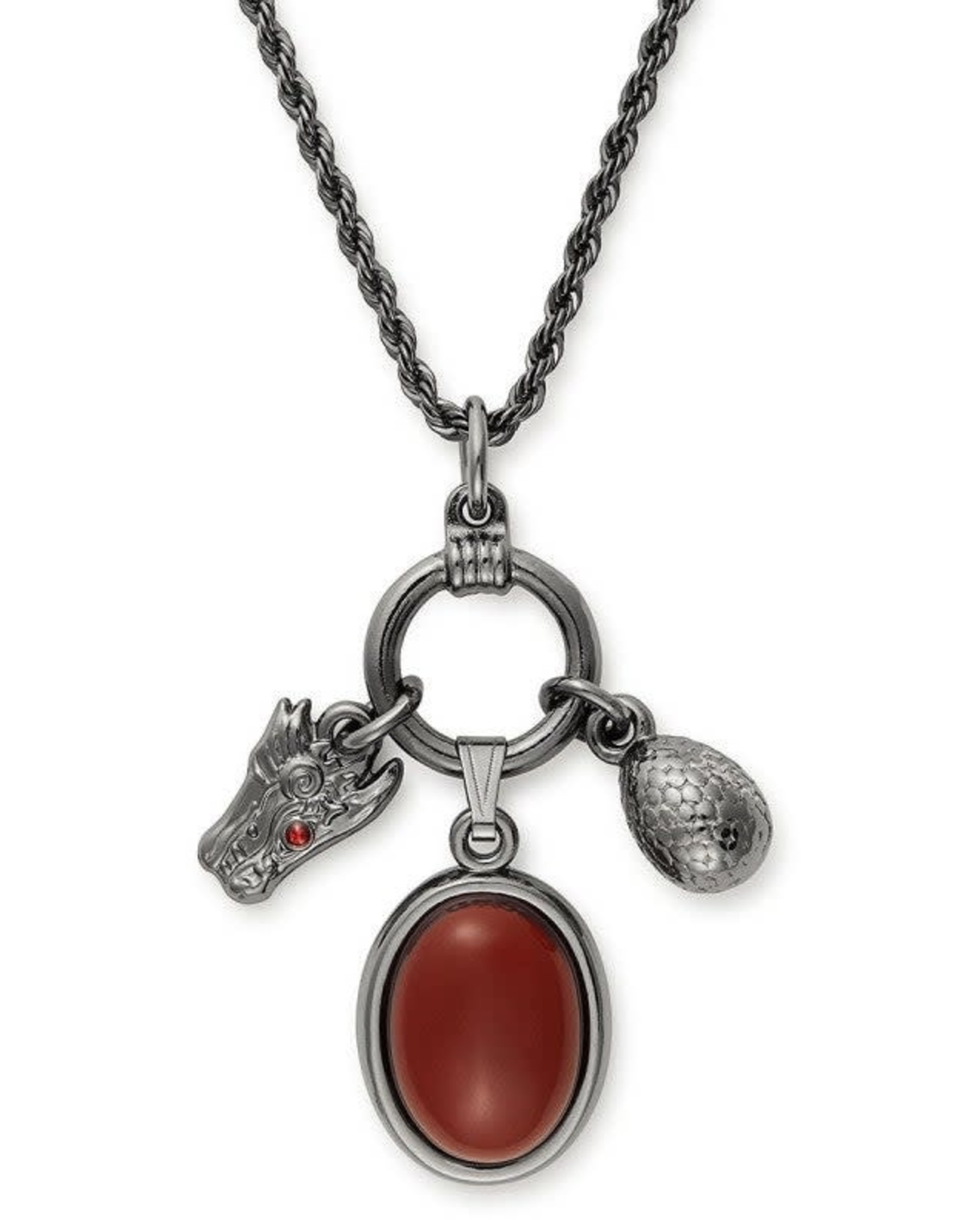 Alex and Ani Game of Thrones, Targaryen 21in Adjustable Trio Necklace
