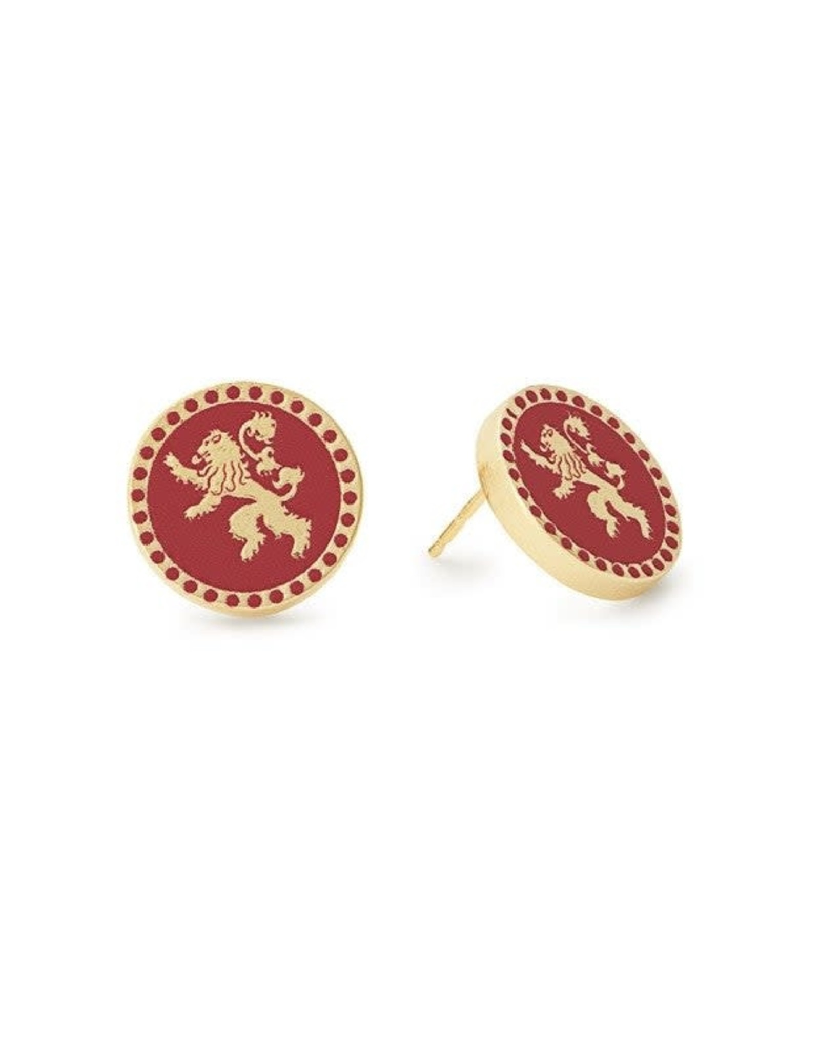 Alex and Ani Game of Thrones, Lannister Post Earrings, 14KT Gold Plated