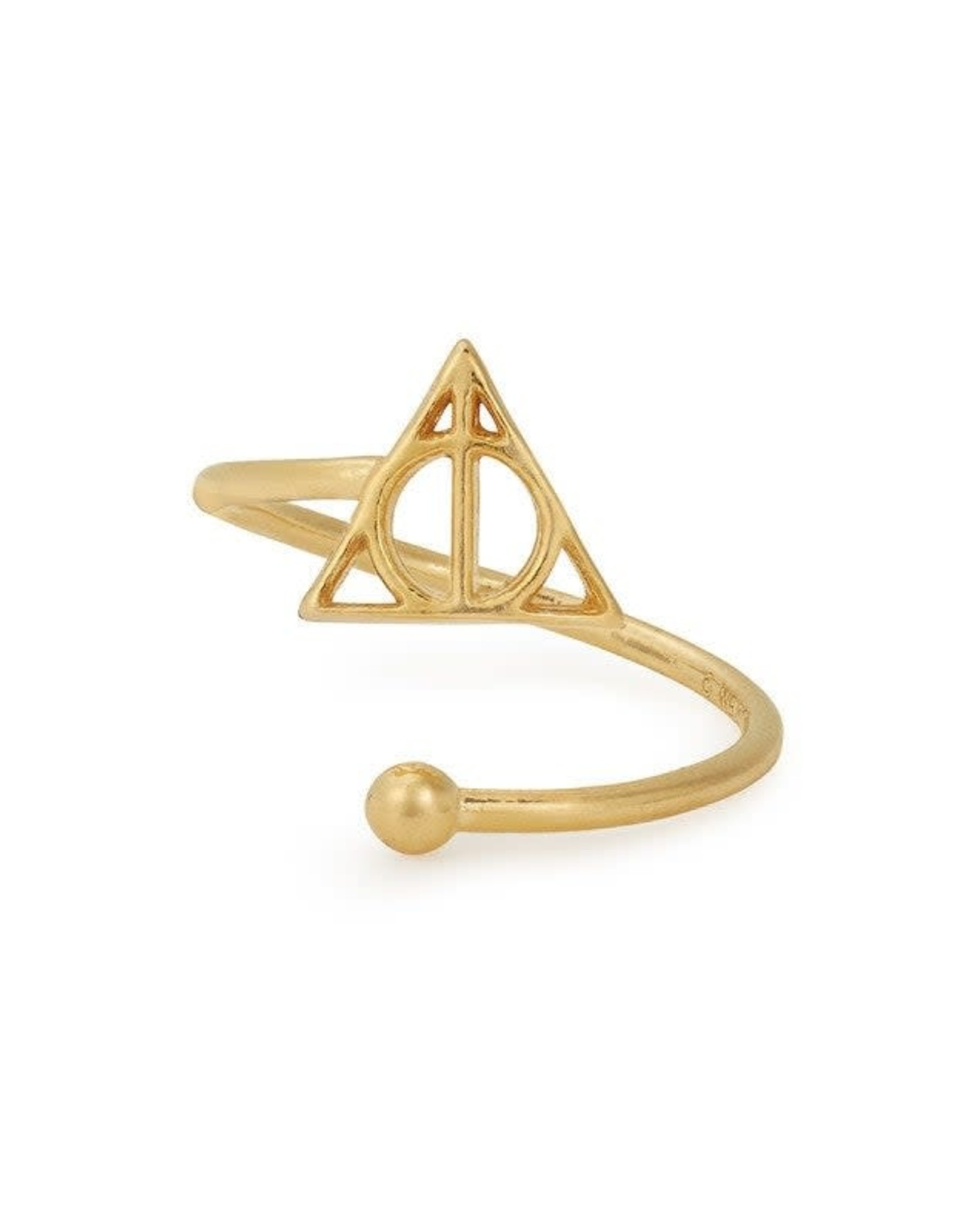 Alex and Ani Harry Potter, Deathly Hallows Ring Wrap, 14kt Gold Plated