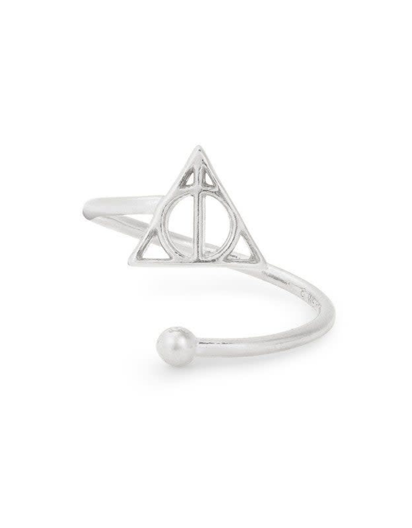Alex and Ani Harry Potter, Deathly Hallows Ring Wrap, Sterling Silver