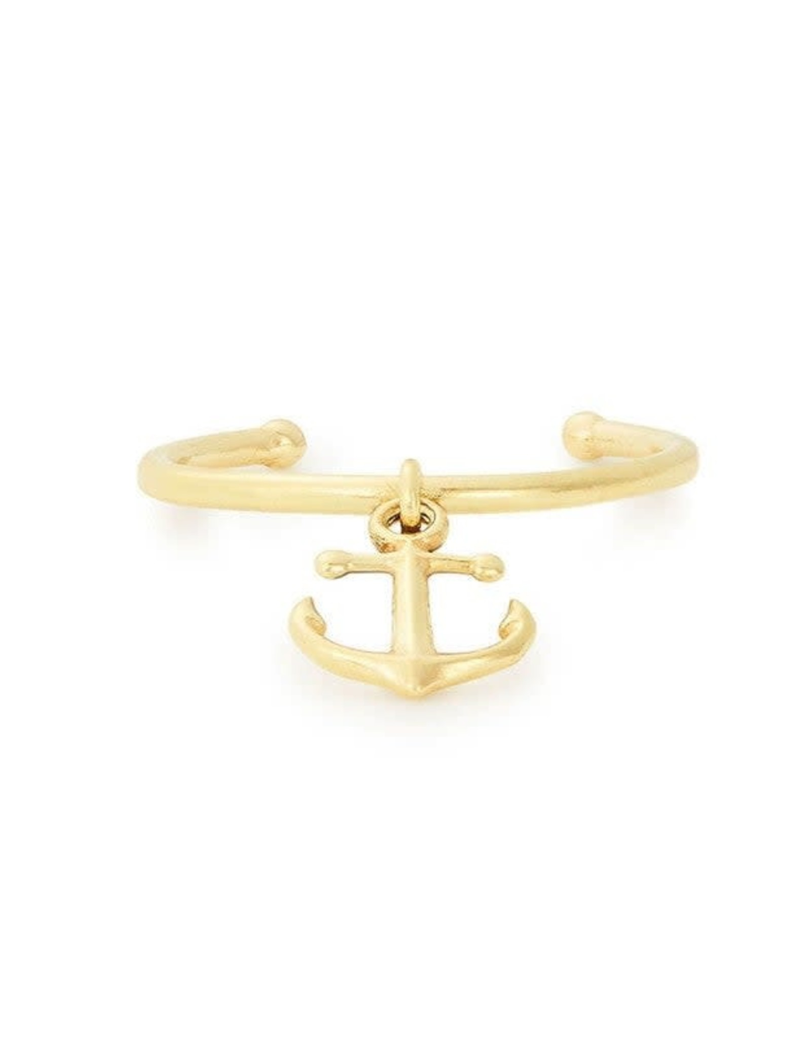 Alex and Ani Anchor Adjustable Ring, 14kt Gold Plated FINAL SALE